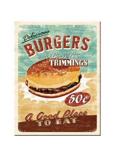 Nostalgic Art Burgers Magnet 6x8 cm Renkli
